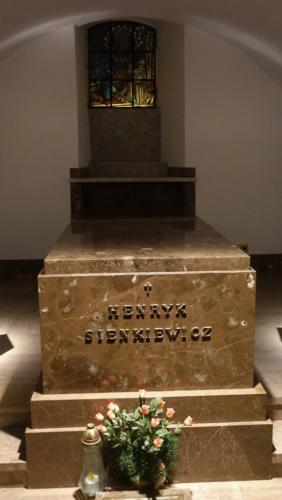 Krypta i sarkofag Henryka Sienkiewicza