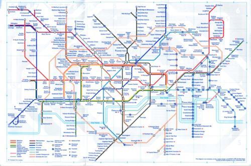 London Underground Route Map Jan 2013