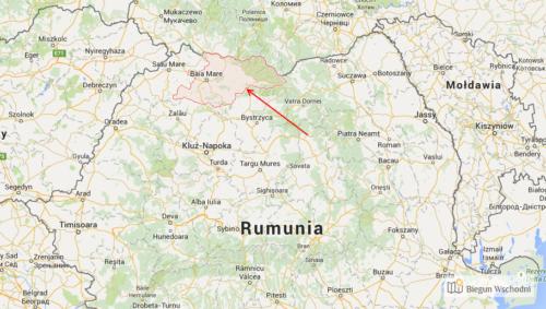 Mapa 1. Rumunii z zaznaczonymi historycznymi krainami