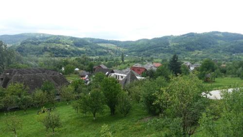 Bârsana – widok ze wzgórza cerkiewnego