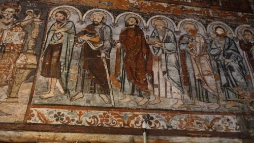 Budeşti – polichromie wewnątrz cerkwi św. Mikołaja