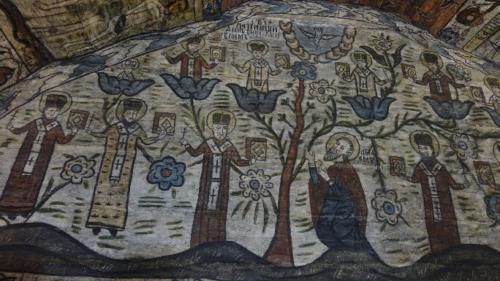 Deseşti – polichromia w cerkwi św. Paraskewy