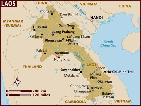 Mapa Laosu