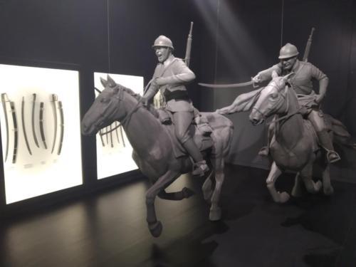 """Wystawa stała """"Centrum Wyszkolenia Kawalerii wGrudziądzu"""" wPałacu Opatek. (aut. Marcin Gorączko)"""