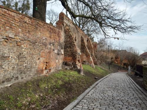 Grudziądz. Pozostałości murów zamkowych. (aut. Marcin Gorączko)