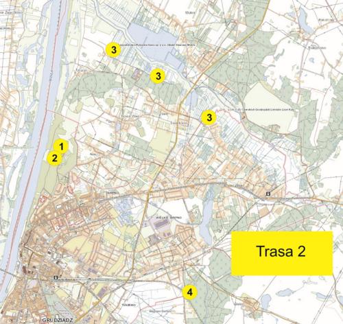 Trasa 2 mapa