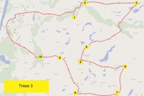 Trasa 3 mapa