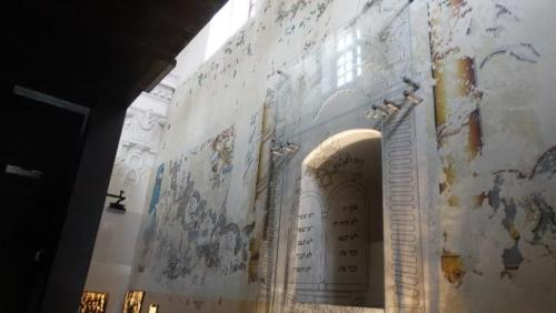 Chmielnik – zachowane wnętrze synagogi