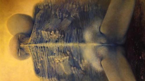 Prace Zdzisława Beksińskiego eksponowane wMiejskiej Galerii Sztuki