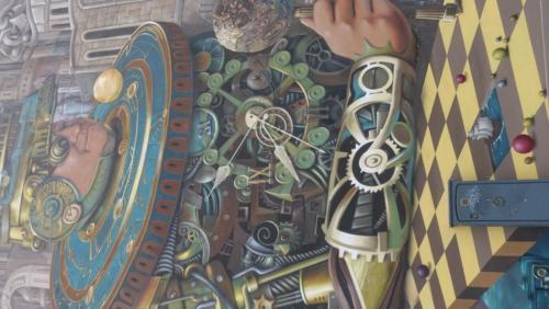 """Mural """"Strażnik czasu"""""""